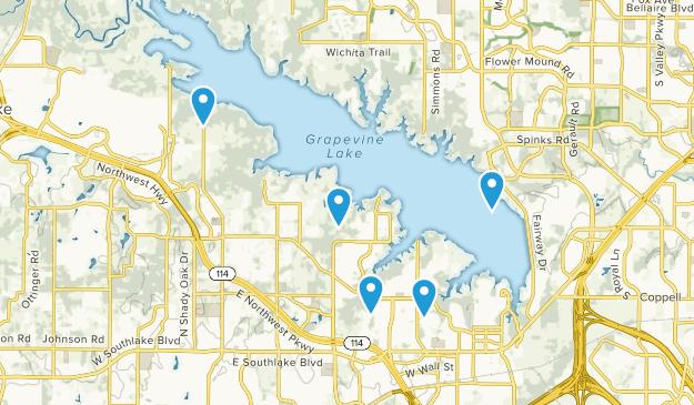 Grapevine, Texas Lake Map