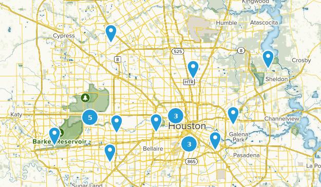Houston, Texas Wheelchair Friendly Map