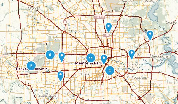 Houston, Texas Birding Map