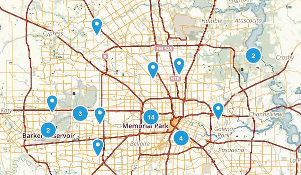 Houston, Texas Dogs On Leash Map
