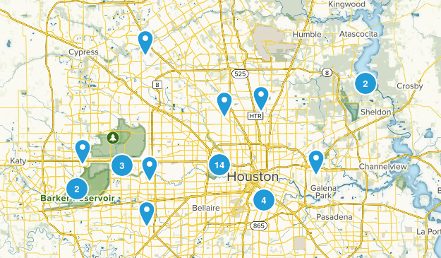 Houston, Texas Dogs On Leash Map