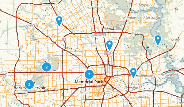 Houston, Texas Forest Map