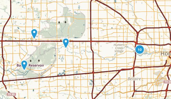 Houston Texas Mountain Biking Map