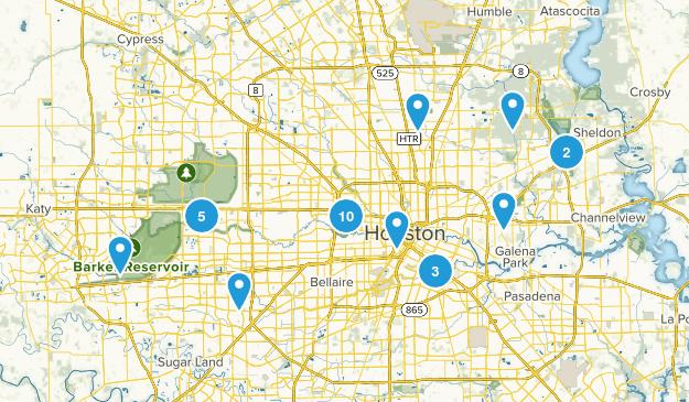 Houston, Texas Nature Trips Map