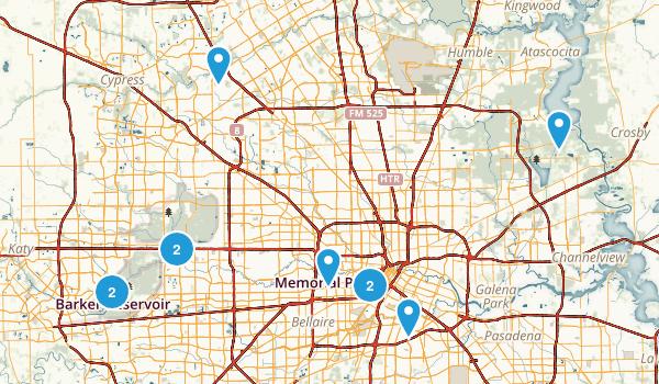 Houston, Texas Road Biking Map