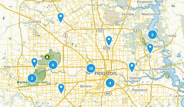 Houston, Texas Trail Running Map