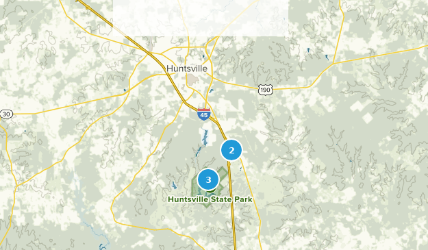 Huntsville, Texas Hiking Map