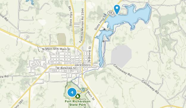 Jacksboro, Texas Hiking Map