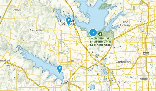 Lewisville, Texas Bird Watching Map