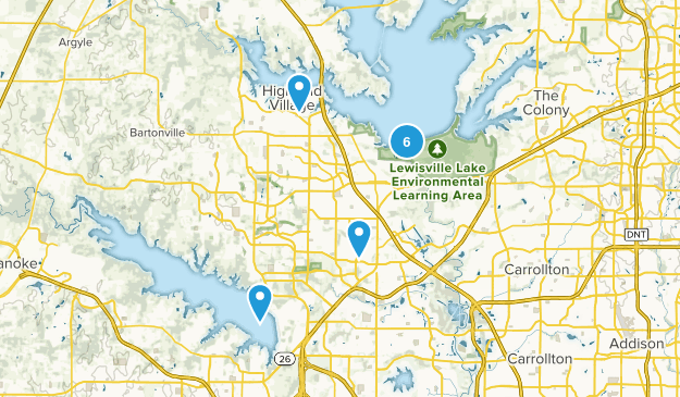 Lewisville, Texas Walking Map