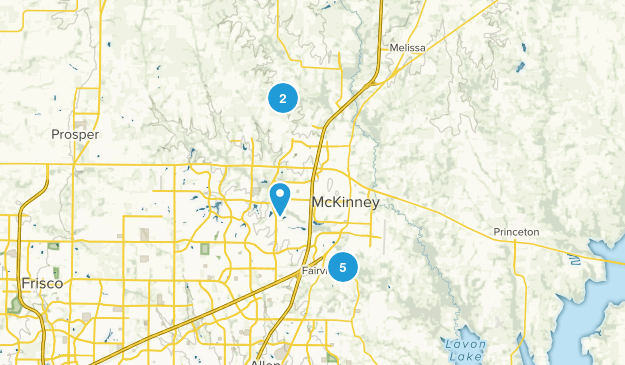 McKinney, Texas Nature Trips Map