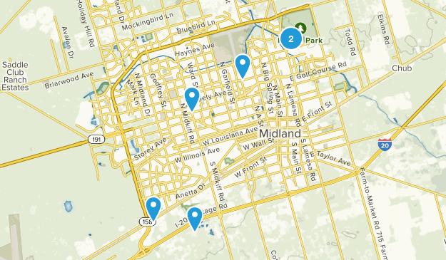 Midland, Texas Kid Friendly Map