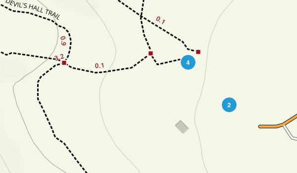 Pine Springs, Texas Hiking Map