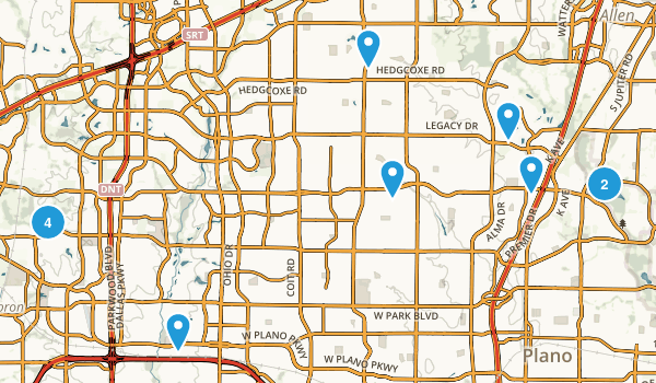 Plano, Texas Dogs On Leash Map
