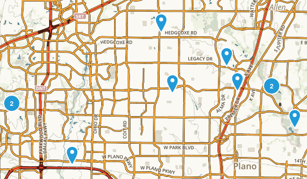 Plano, Texas Trail Running Map