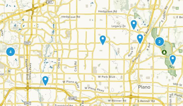 Plano, Texas Walking Map
