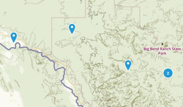 Presidio, Texas Hiking Map