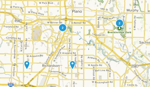 Richardson, Texas Walking Map