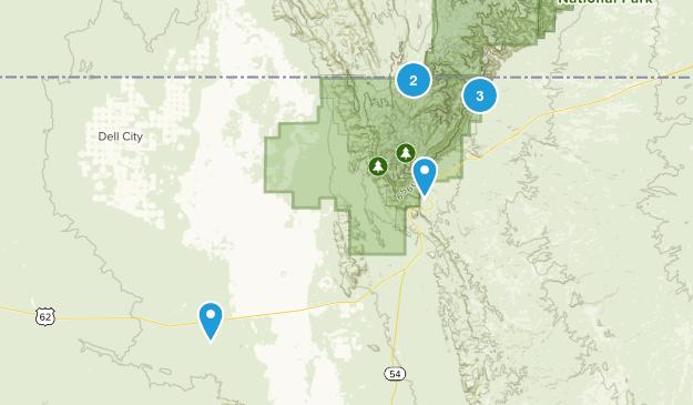 Salt Flat, Texas Camping Map