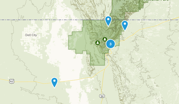 Salt Flat, Texas Kid Friendly Map