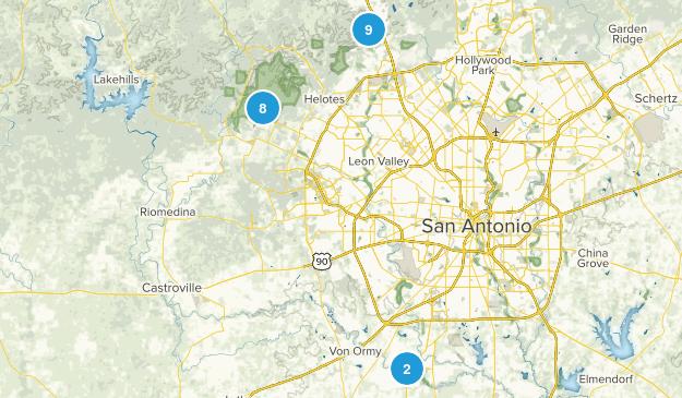 San Antonio, Texas No Dogs Map