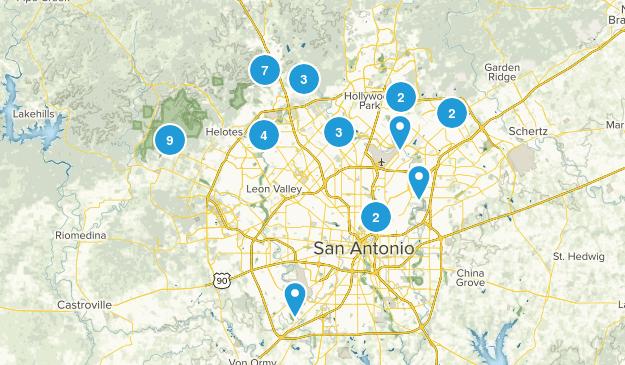 San Antonio, Texas Forest Map