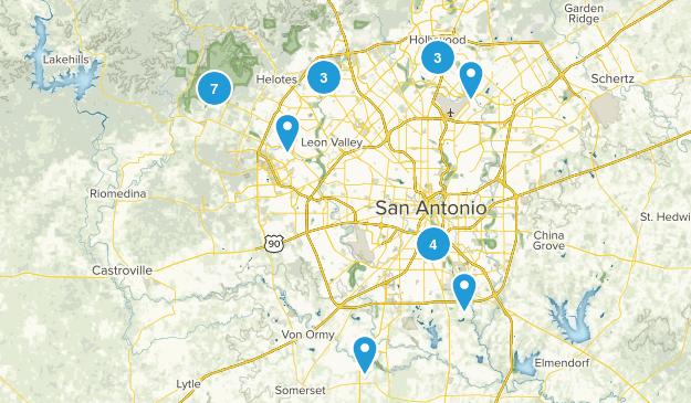 San Antonio, Texas Mountain Biking Map