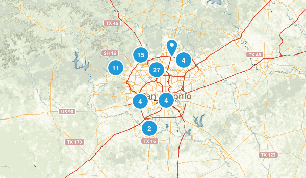 San Antonio, Texas Walking Map