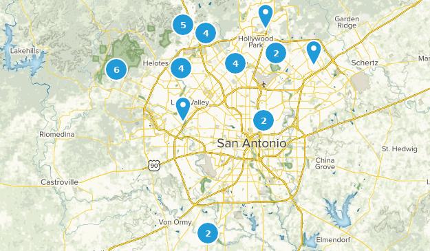 San Antonio, Texas Wild Flowers Map
