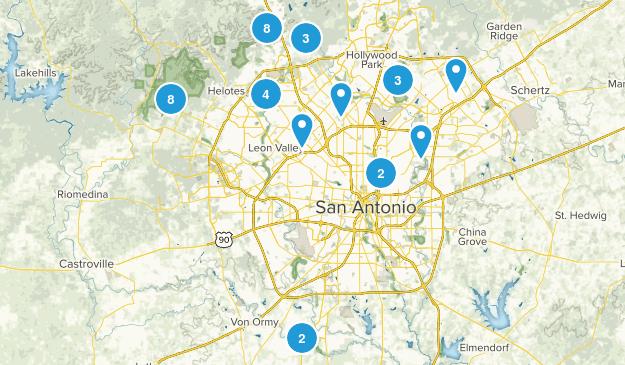 San Antonio, Texas Wildlife Map