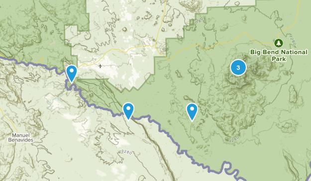 Terlingua, Texas No Dogs Map