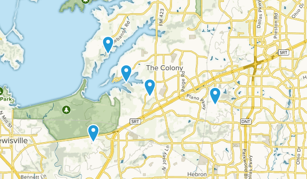 The Colony, Texas Hiking Map