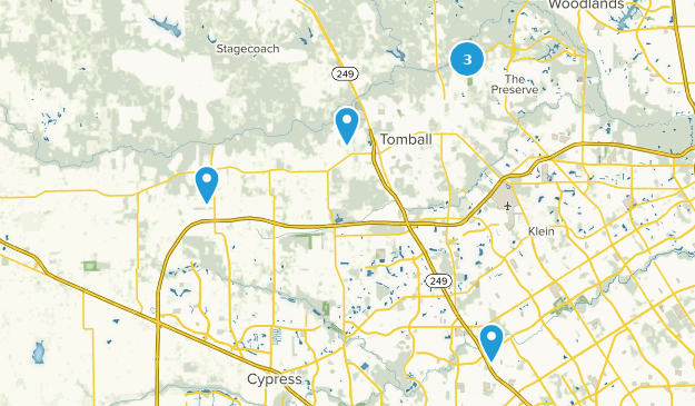Tomball, Texas Hiking Map