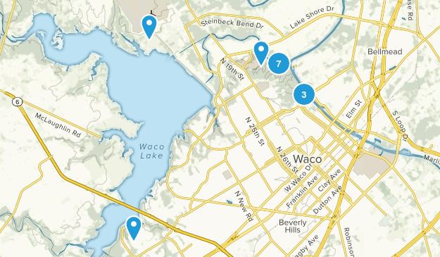 Waco, Texas Hiking Map