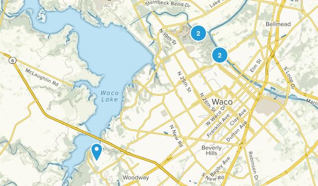 Waco, Texas Mountain Biking Map