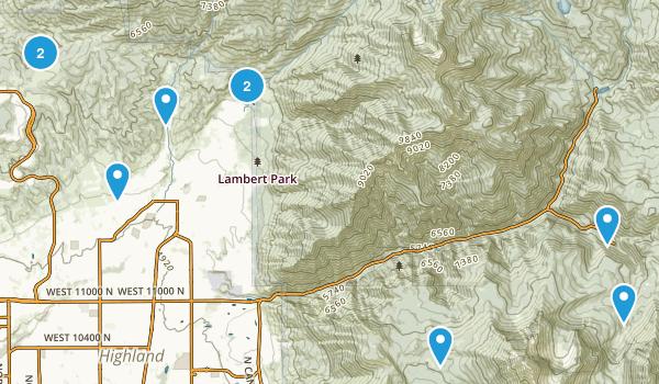 Alpine, Utah Dogs On Leash Map