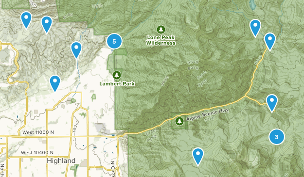 Alpine, Utah Hiking Map