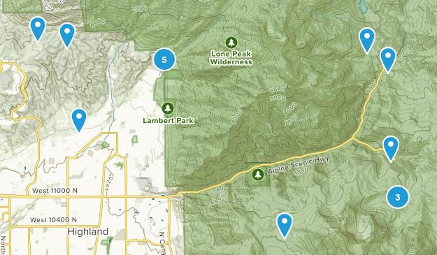 Alpine, Utah Hiking Map