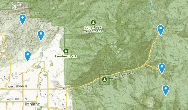 Alpine, Utah Mountain Biking Map