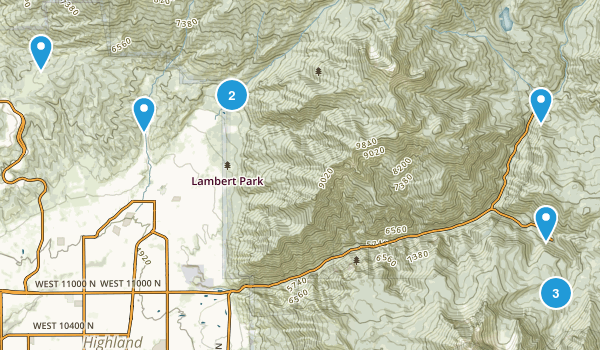 Alpine, Utah Trail Running Map