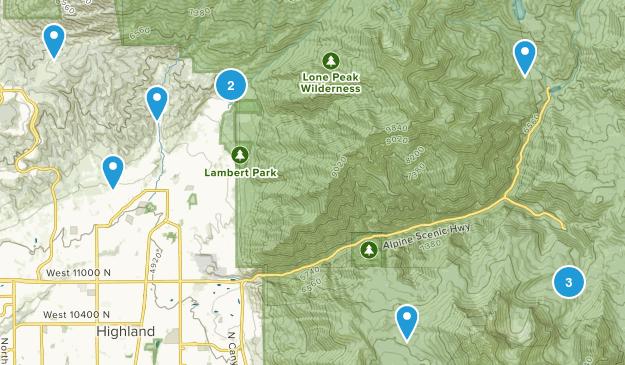 Alpine, Utah Walking Map