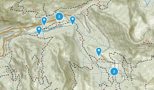 Alta, Utah Hiking Map