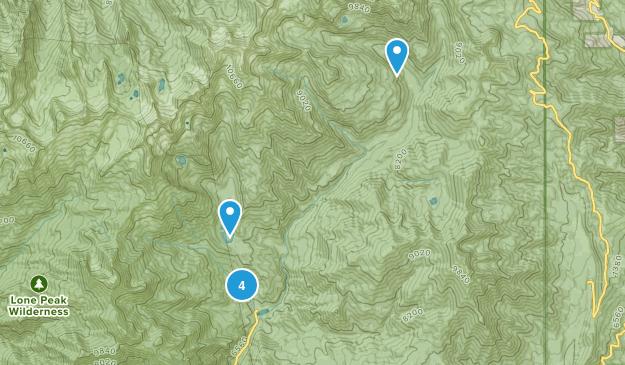 American Fork, Utah Horseback Riding Map