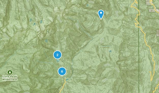 American Fork, Utah Snowshoeing Map