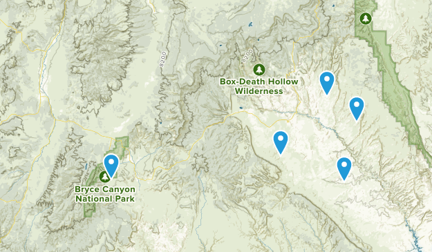 Antimony, Utah Hiking Map