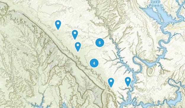 Big Water, Utah Hiking Map