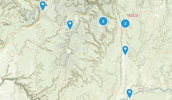 Bluff, Utah Nature Trips Map