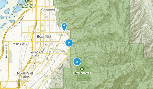 Bountiful, Utah Snowshoeing Map