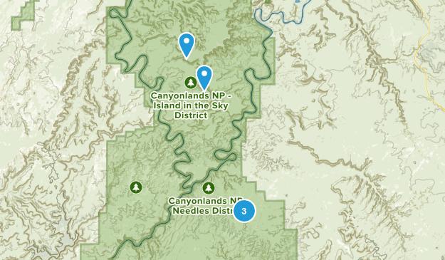 Canyonlands, Utah Backpacking Map