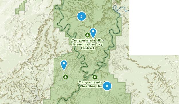 Canyonlands, Utah Camping Map
